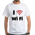 I Love Wi Fi White T-Shirt