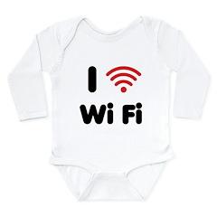 I Love Wi Fi Long Sleeve Infant Bodysuit