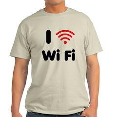 I Love Wi Fi Light T-Shirt