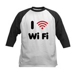 I Love Wi Fi Kids Baseball Jersey