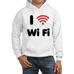 I Love Wi Fi Hooded Sweatshirt