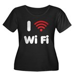 I Love Wi Fi Women's Plus Size Scoop Neck Dark T-S