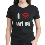 I Love Wi Fi Women's Dark T-Shirt