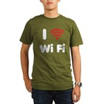 I Love Wi Fi Organic Men's T-Shirt (dark)