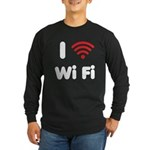I Love Wi Fi Long Sleeve Dark T-Shirt