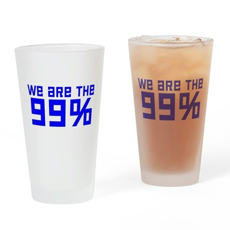 We are the 99% Drinking Glass