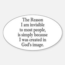 Invisible Like God. Decal
