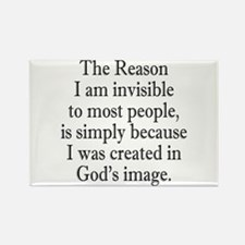 Invisible Like God. Rectangle Magnet