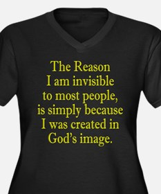 Invisible Like God. Women's Plus Size V-Neck Dark