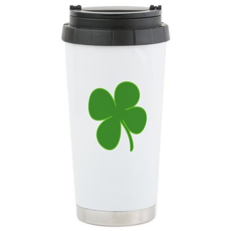 Four-Leaf Clover Stainless Steel Travel Mug