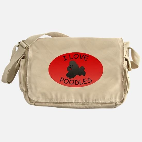 Poodles Messenger Bag