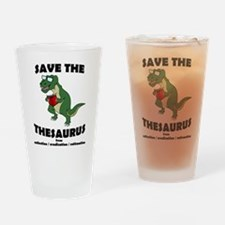 Save The Thesaurus Drinking Glass
