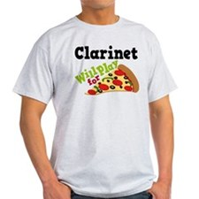 Clarinet Play For Pizza T-Shirt