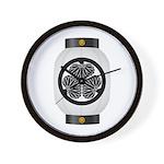 Mitsuba aoi chochin1 Wall Clock