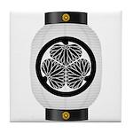 Mitsuba aoi chochin1 Tile Coaster