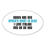Star Trek Poem Sticker (Oval 50 pk)