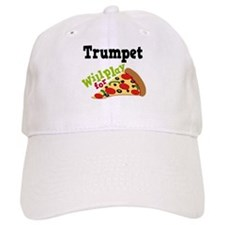 Trumpet Play For Pizza Baseball Cap