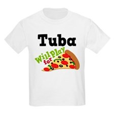 Tuba Play For Pizza T-Shirt