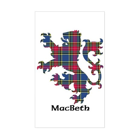 Lion - MacBeth Sticker (Rectangle)
