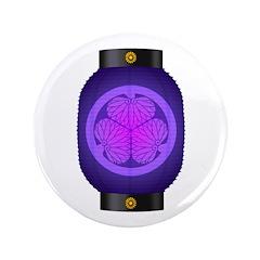 "Mitsuba aoi chochin4 3.5"" Button (100 pack)"