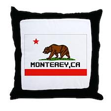 Monterey,Ca -- T-Shirt Throw Pillow