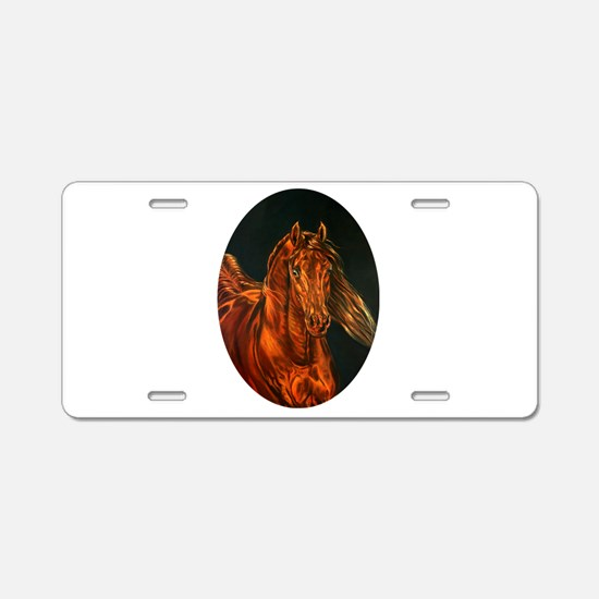 Fire Aluminum License Plate