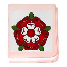 Tudor Rose Emblem baby blanket