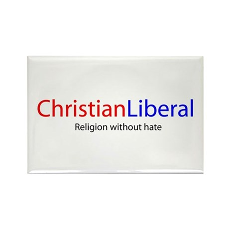 Christian Liberal Rectangle Magnet