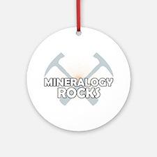 Mineralogy Rocks Ornament (Round)