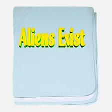 aliens exist baby blanket