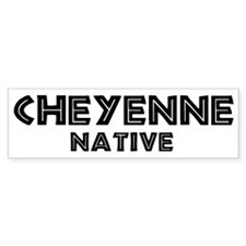 Cheyenne Native Bumper Car Car Sticker