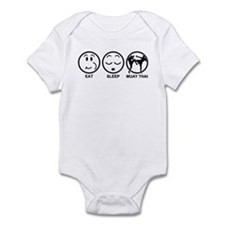 Eat Sleep Muay Thai Infant Bodysuit