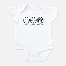 Eat Sleep Muay Thai Infant Bodysuit