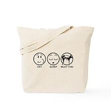 Eat Sleep Muay Thai Tote Bag