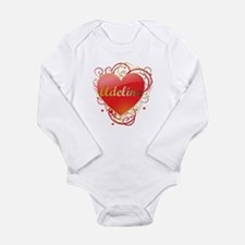 Adeline Valentines Long Sleeve Infant Bodysuit