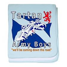 Tartan Army Boys Coming baby blanket