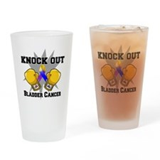 Knock Out Bladder Cancer Drinking Glass