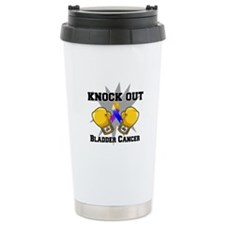 Knock Out Bladder Cancer Travel Mug