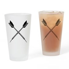 Crossed Darts Drinking Glass