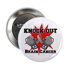 "Knock Out Brain Cancer 2.25"" Button"