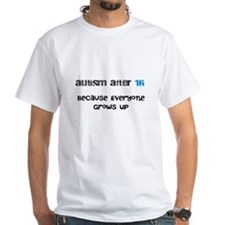 Shirt with Autism After 16 Logo