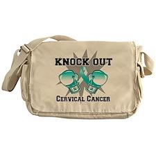 Knock Out Cervical Cancer Messenger Bag
