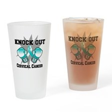 Knock Out Cervical Cancer Drinking Glass