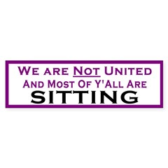 We Are Not United Bumper Bumper Sticker