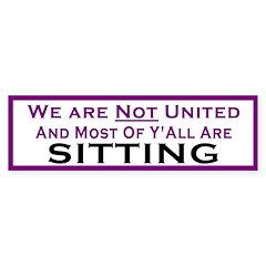 We Are Not United Bumper Bumper Sticker