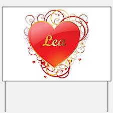 Lea Valentines Yard Sign