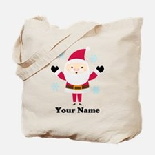 Personalized Santa Snowflake Tote Bag