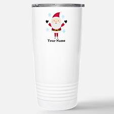 Personalized Santa Snowflake Travel Mug