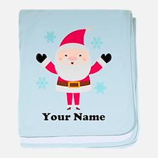 Personalized Santa Snowflake baby blanket