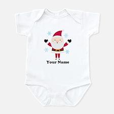 Personalized Santa Snowflake Infant Bodysuit